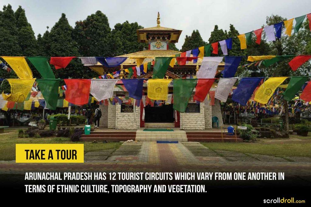 arunachal pradesh has many tourist circuits