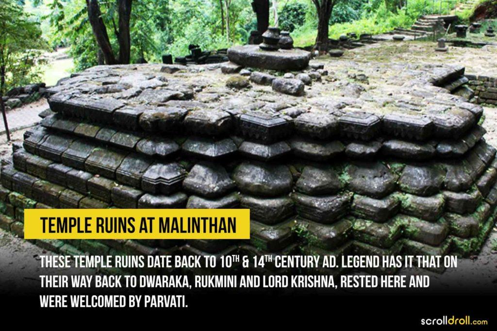 Temple ruins at Malinthan