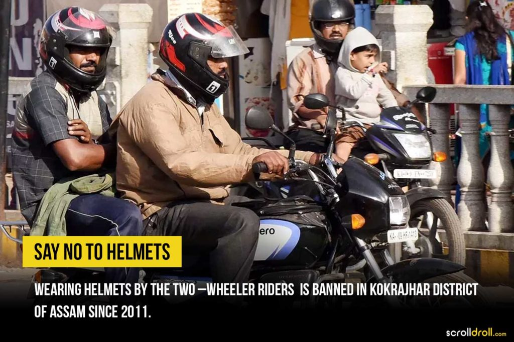 No to Helmets