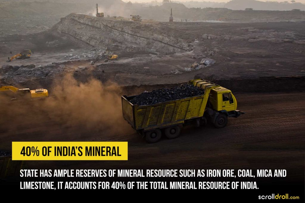 Jharkhand has ample reserves of mineral resource