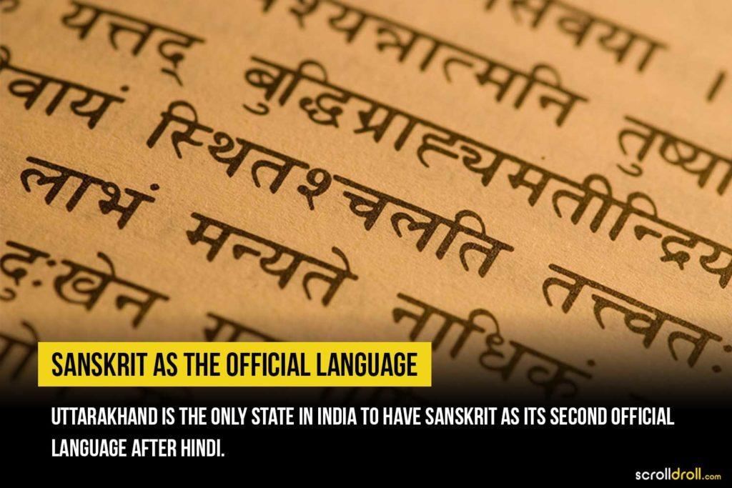 Sanskrit as the official language