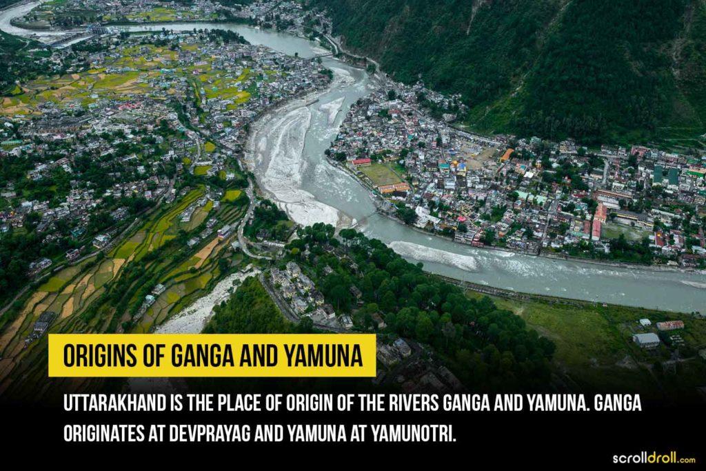 Ganga and Yamuna origins