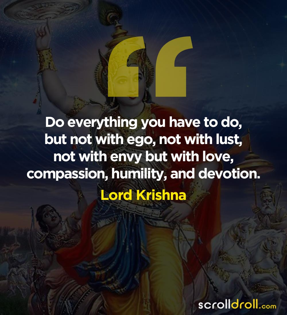 lord krishna quotes to change your way of life